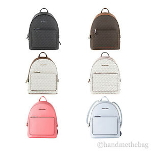 Michael Kors Adina Medium Leather/PVC Convertible Shoulder Backpack Book Bag