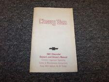 1981 Chevy G10 G20 G30 Van Original Owner Owner's Operator User Guide Manual