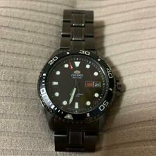 AUTH ORIENT WATCH DIVER FAA02003B9 AUTOMATIC W/ HAND-WIND BLACK SILVER F/S