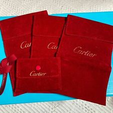 Used Cartier Accessory Jewelry Case Watch case Red 4 sets F/S from Japan