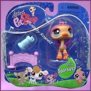 2007 Littlest Pet Shop 516 SPORTIEST OSTRICH HURDLE WATER BOTTLE HURDLE PLEASE R
