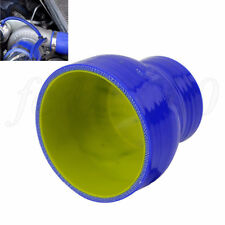 "Universal 3"" to 4"" Silicone Intercooler Hose Reducer Turbo Tube Intake Pipe Blue"