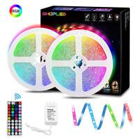 2PCS 16FT LED Strip Light 12V 5050 RGB Color Changing String Light Controller