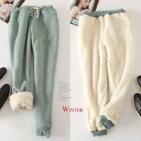 Lady Girls Winter Sport Harem Pants Thicken Fleece Casual Baggy Joggers Trousers