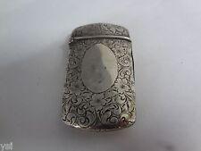 Vintage  Vesta Case Pocket Match Safe  Sterling Battin & Co. G-917