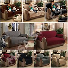 QUILTED FURNITURE SOFA SETTEE SLIP COVER PET PROTECTOR THROW WATER REPELLENT