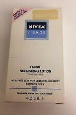 (1) NIVEA Visage Facial Nourishing Lotion SPF 4 For Sensative Skin 4 fl Oz