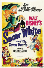 Snow White & the 7 dwarfs #12 cartoon movie poster print