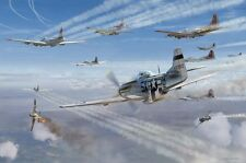 """Alabama Rammer Jammer"" Jim Laurier S/N Limited Edition Print - P-51 Mustangs"
