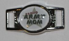"""""""Proud Army Mom"""" w/lg. star Oval shoelace charm (1) shoes/paracord"""