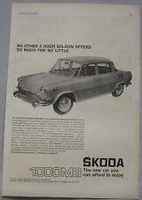 1967 Skoda 1000MB Original advert No.2