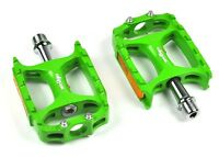 New Wellgo MTB M138 Magnesium CNC Mountain Bike Pedal MTB Pedals Only 238g-Green