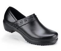 SFC Shoes For Crews Iris Black Leather Women's Shoes 9072 Size 6 / 36.5 $69