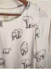 165. Anthropologie Leah Reena Goren Artic Mini Dress Polar Bear Print Sz S /6