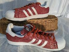 Rare Adidas Mississippi State Bulldogs Exclusive Superstar Red Fox Shoes Size 16