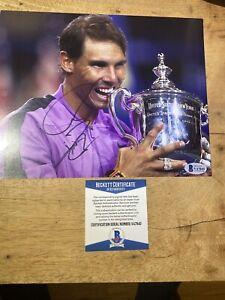 Rafael Nadal signed autograph 8x10 photo tennis US Open Beckett BAS WIMBLEDON