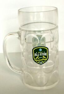 MLS Portland Timbers Plastic 1 Liter Beer Mug Clear Cup 2014 All-Star Souvenir