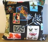 DESIGNERS GUILD CHRISTIAN LACROIX Maison De Je Velvet Fabric Cushion Cover Black