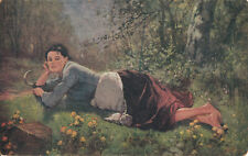 Art Jandl - folk type peasant woman - Sweet resting