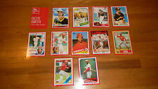 2015 Topps Ozzie Smith Cardboard Icons 5x7 Red Edition Set 09/10 MINT
