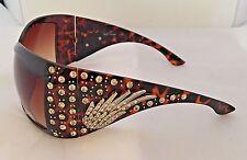 Designer Inspired Women Sunglasses Bead Rhinestone And Concho Leopard