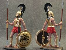 Tin toy soldiers painted 54mm    Spartan hoplite, 480 BC