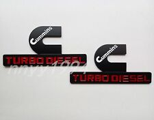 BRAND NEW 2pcs CUMMINS TURBO DIESEL BADGE EMBLEMS MOPAR DODGE RAM 2500