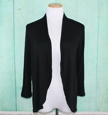 APT. 9 Open Front Cardigan Size PS Black Lightweight Rayon NEW