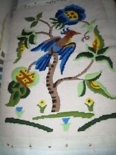 Large Vintage Embroidered Tapestry Jacobean Style Panel