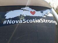Car window decal Nova Scotia strong #nsstrong cape breton sticker #2