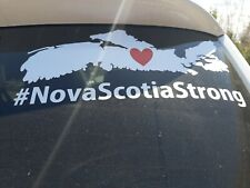 Car window decal Nova Scotia strong #nsstrong cape breton sticker #2