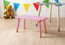 Mobel Kids 1 PINK Wooden Bench & 1 PINK chair set children aged 3-6 years only