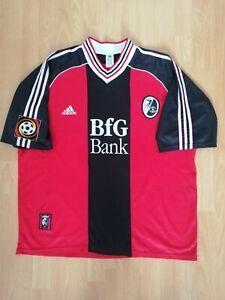 Freiburg Vintage Soccer Football Jersey 1998 1999 2XL Trikot Shirt BfG Bank