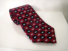 Pfizer Pharmaceutical Representative Blue Red Patterned Silk Tie