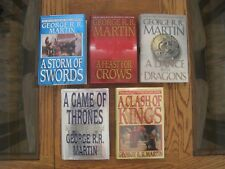 A GAME OF THRONES Complete Set of 1st Editions/1st Prints, VG to L. New HCs/DJs
