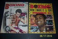 1973 Boxing MUHAMMAD ALI vs George Foreman SET of 2 Joe FRAZIER 1975