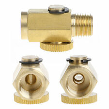 "1/4"" NPT Inline Regulator Solid Brass Compressed Air Pressure Valve Tool New"