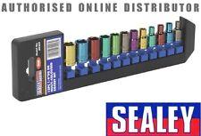 Sealey multicolore 6 latéral Douille hexagonal Set 12 pièces 0.6cm Clé métrique
