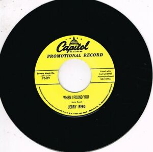 JERRY REED - WHEN I FOUND YOU / I'VE HAD ENOUGH (Fabulous 50s Country-Rockabilly