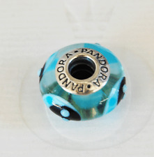 "Genuine Pandora Murano Glass Bead ""Ladybird - blue"" 790654 - retired"