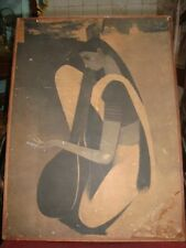 B. Prabha famous Indian Painter  paper print of a singer lady from India 1950