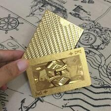 Gold Plastic Waterproof Cards Golden Playing Cards Deck Gold Foil Magic Poker