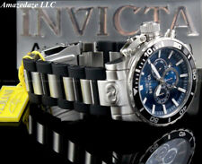 NEW Invicta Men 52mm Corduba Ibza Chronograph BLUE DIAL Stainless Steel Watch !!