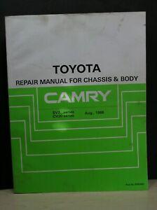 TOYOTA CAMRY Repair Manual Chassis & Body SV2, CV20 Series Aug 1986 (1991 Ed.)