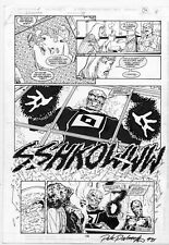 Jim Calafiore Aquaman original comic art