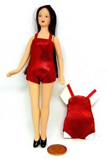 1:12 Scale Ladies Red 1 Piece Swimsuit Tumdee Dolls House Miniature Clothing
