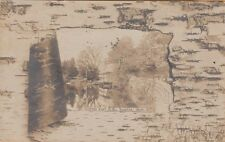 "MA ~ TAUNTON ~ RPPC ~ ""BIRCHBARK"" BORDER ~ The TAUNTON BOAT CLUB ~ c1906"
