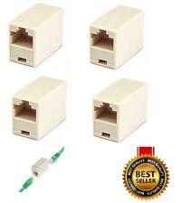 4Pcs Cat5e Rj45 Coupler Plug Network Lan Cable Joiner Extender Connector Adapter