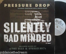 "PRESSURE DROP ~ Silently Bad Minded ~ 12"" Single PS USA PRESS"