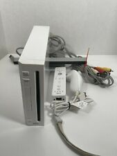 Nintendo Wii White Console System RVL-001 W/ All Cords And Controllers